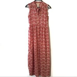 Band of Gypsies Sheer Floral Maxi Dress/Duster